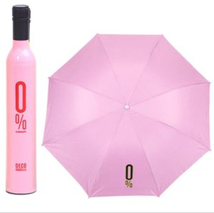 مظلة الإبداعية زجاجة النبيذ الإبداعي يتقوس مظلة الشمس جودة عالية مظلة الشمس المظلات المخصصة هدية الإعلان مظلة