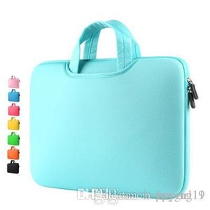 Счастливый моды новый холст водонепроницаемый, устойчивый к царапинам Laptop сумки на ремне 11 12 13 15inch ноутбук плеча чехол для Anti-падения сумки