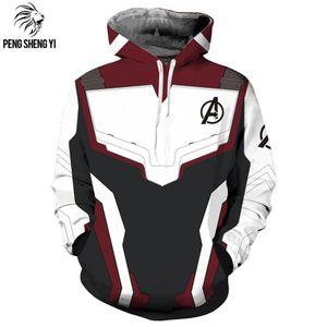 Avengers 4 quantum battle Coat cosplay hoodie drawstring round collar loose Coat sweater Hoodie sweater
