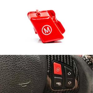 2 Unids / set volante del coche rojo M1 M2 Interruptor de modo Cubierta del botón Ajuste adecuado para BMW M Series M3 M4 F80 F82 F83 2013+