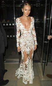 Womens Designer Flower Lace Dresses Fashion Perspective Hollow Out Guaze Dresses Luxury Womens Clothes