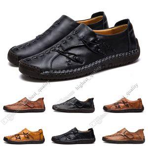 nuova mano cuciture scarpe casual da uomo Inghilterra piselli scarpe di cuoio scarpe messo piede degli uomini bassi di grandi dimensioni 38-48 Eleven