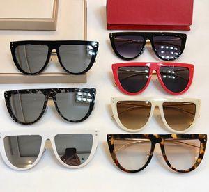 NOUVEAU planches flat-top + métal 0372Fsunglasses qualité eleglant modèle féminin lunettes grand-cadre lentille miroir Revo UV400 Fullset cas freeshipping