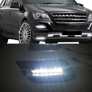 1 Pair DRL Daytime Running Lights Fog head Lamp cover car styling For Mercedes Benz ML350 W164 ML300 ML320 2010 2011