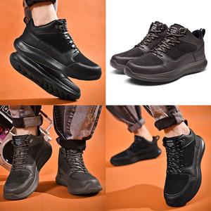 las mujeres del envío gratis para hombre zapatos de cuero Negro Café de invierno ejecutan Keep Warm deportivos zapatillas de deporte para hombre entrenadores hecho en casa marca de fábrica Hecho en China