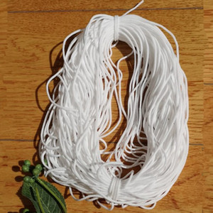 Wholesale 1000m L*3mm W Elastic Mask Strap White Earloop Cord Ear Tie Rope Handmade String for Mask Sewing Hanging Ear Mask Strap