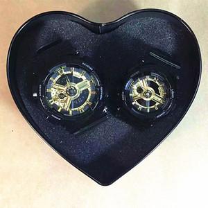 G Style 2020 orologio per uomini resistenti della coppia dell'amante di alta qualità Shock Donne Sport Luxury esercito militare LED Clock With Heart Shape Box