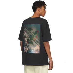 Tanrı ESSENTIALS Çiçek Fotoğraf Baskılı tişört Erkek Tee Kadın Moda Kısa Kollu Sokak Hip Hop Yaz Tee T08 2020 19FW SİS Korku