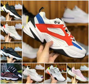 Erkek Kadın Chaussures Hava Monarch M2K Tekno Baba Zapatillas Siyah Beyaz Spor Eğitmenler Max2 Işık Spor Spor Ayakkabılar için 2019 YENİ Koşu Ayakkabı