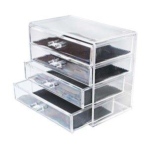 Acrylic Transparent Makeup Organizer Storage Boxes Make Up Organizer for Brush Organizer Home Storage Drawer Set