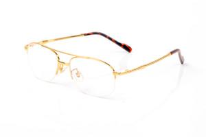 diseñador de los marcos de anteojos de oro mujeres ojo de diseño de lujo marcos de los vidrios torcer las piernas gafas de aviador marco de medio puente de la nariz dobles