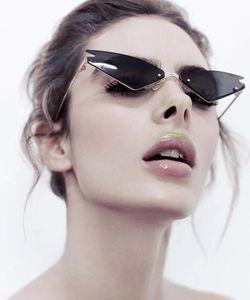 Fashion sunglasses Cat eye sunglass female wild colorful sunglasses Full Plated Real Film Polarized Sunglasses Boxed
