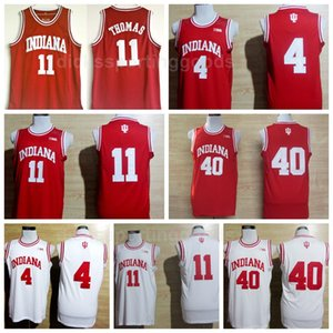 NCAA College Indiana Hoosiers 4 Victor Oladipo Jersey Hommes Basketball 11 Isiah Thomas 40 Cody Zeller Jerseys Équipe Rouge Élevé Blanc