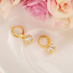 Gold ball Wedding Jewelry Sets Cubic Zirconia Elegant Engagement Earring for Women girls charms gift Accessories drop shipping