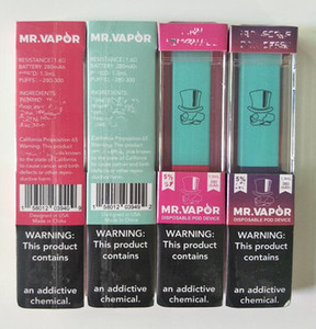 MR VAPOR Disposable vape pod Device 1.3ml 280mAh Battery 400 Puffs Empty pods vapor Pen starter kit