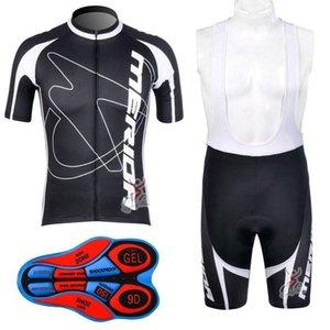 2020 Merida Bisiklet Jersey Seti 2020 Merida Döngüsü Giyim Yaz Kısa Kollu Döngüsü Jersey Profesyonel Ekibi Bisiklet Önlüğü Şort Ciclismo Maillo D0716
