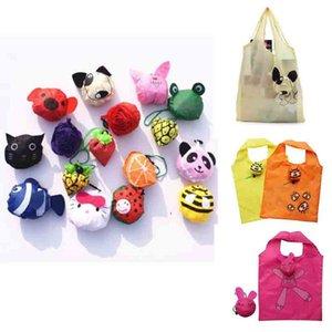 Nouveau 2019 pas cher en gros Nouveau sac de magasinage pliant forme de dessin animé mignon polyester pliable sacs à provisions réutilisable écologique sac de pliage Sh
