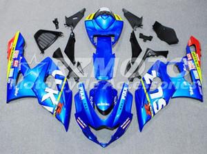 عالية الجودة حقن القالب ABS نفطة الكاملة أطقم يصلح لSUZUKI GSXR1000 K5 2005 2006 مجموعة هيكل السيارة مخصصة الأزرق