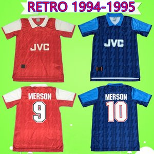 Arsenal jersey # 8 Wright # 10 Bergkamp 1994 1995 Heimtrikot Retro 94 95 Klassiker gedenken der antiken Kollektion Trikot Fußball Trikot Hartson Campbell