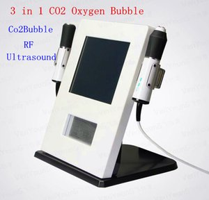 Venda quente 3 em 1 Oxygen Ultrasound face RF Oxygen Co2 bolha Skin Care Facial máquina rugas removedor Beautifu Equipamento DHL frete grátis