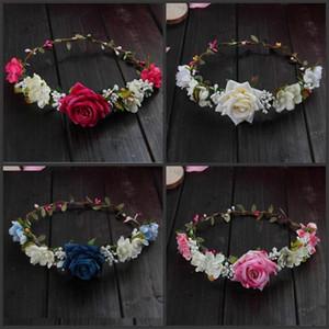 Künstliche Blumen Rose Kränze 4 Farben Blume Crown Exquisite Festival Supplies Hochzeit Braut Brautjungfer Mode Haar Kranz 5cxaE1