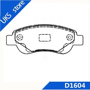 4piece set Car Brake Pads Rear D1604 FOR BYD F0