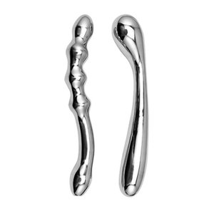 Anal Vaginal Play Metal Masturbation Dildo Dong Wand Manual Prostate Massager Stick Adult Sex Toys for Men Women FNJS600-JD