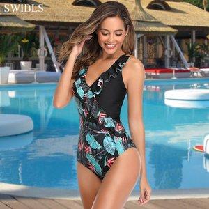 Kadınlar Plajı Yüzme SWIBLS Vintage Yüzücü Bayan Mayo için Kadın Seksi One Piece Mayo 2020 Mayo