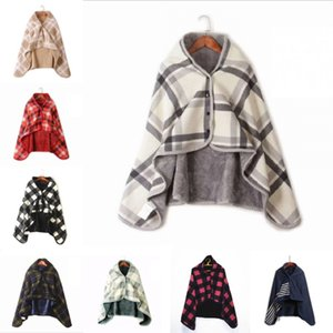 Xaile flanela Blanket absorção de umidade outono e inverno Blanket Sofá quentes Malha Xaile Cobertores 80 * 135 cm