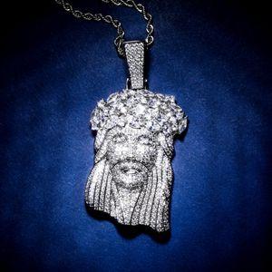 Jesus Piece Pendant Mens Jewelry Hip Hop Luxury Designer Bling Diamond Iced Out Pendant Cuban Link Chain Rapper Gold Silver Men Accessories