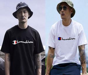 Camiseta Moda Carta dos Campeões T-shirt de manga curta O-pescoço das mulheres dos homens do verão camisetas Unisex Designer cobre T dos homens T-shirts Roupa M-3XL