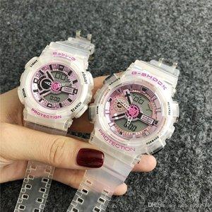 Mulheres amantes Casais CHOQUE display LED Moda Bebê CAS relógios de marca dos homens Multifuncional impermeável borracha G relógio de pulso GA 12