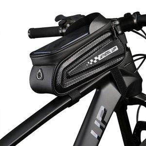 Колеса вверх велосипед мешок MTB дорожный велосипед Водонепроницаемый Передняя рамка Мешочек Сумки Touchscreen велосипед Велоспорт Трубные мобильный телефон Case Сумки