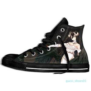 Imagem Personalizada Impressão Sneakers Chegada Popular Anime Overlord II Men / Harajuku Estilo Plimsolls lona respirável Andando G01 Plano