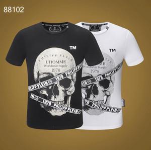 2019 Frühling Sommer Mode Designer Marke T-shirt Gestickter Tiger Wolf Kurzarm-T-Shirt Männer Jugend T-Shirt # 6305