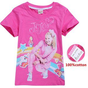 jojo siwa clothes kids T-shirts Tees 100% Cotton 4-12t Kids girls Summer T-shirt Tops 110-150cm kids  clothes girls wholesale BSS348