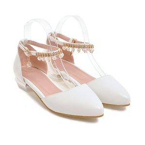 Sexy2019 Luxurious Pearl Trip Porta scarpe da donna Candy Sharp Baotou Sandali Low con scarpa Princess G119