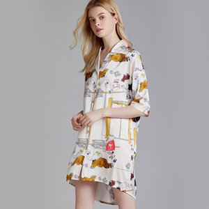 مقاس M-XL Sleep Locity Nightmare Sleepshirt Sleepshirt Cartoon Style Night Weears Night Women Sexy Linger Cloom Dress