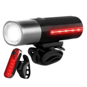 LED Bike Light USB rechargeable vélo avant Phares arrière Feu arrière du vélo pour les motos Mountain Road