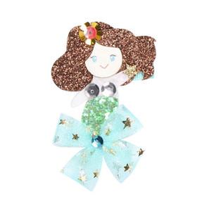 Baby-Haar beugt nette Karikatur-Nixe Sequined Hairpin Barrette Glitter Haarnadeln Zubehör 5 Styles