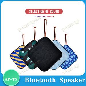 T5 بلوتوث اللاسلكية ميني رئيس سماعات محمولة مضخم صوت بلوتوث 4.2 مع SD FM في الهواء الطلق عمود مكبر الصوت