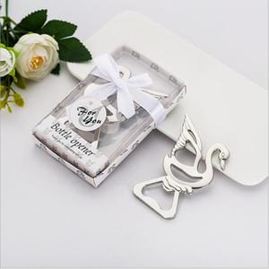 Partido favores de la ducha del biberón recuerdos Little Swan abridor personalizada presente aleación para la boda sorteo de regalo libera el envío