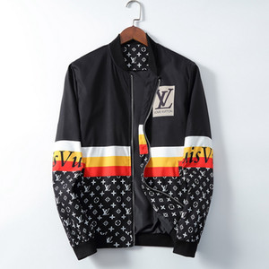 venda quente dos homens do desenhista projetista jaqueta Brasão New Jacket Com Letras Windbreaker Zipper Hoodies For Men Sportwear Tops Roupa