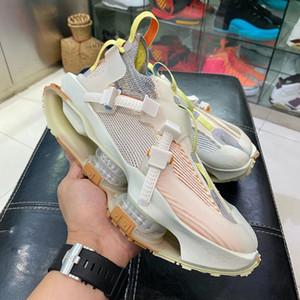 2020 Authentic Matthew M Williams x MMW 4 Road Warrio Mens Correndo tênis de basquete Sports Sneakers com caixa de fibra de carbono real
