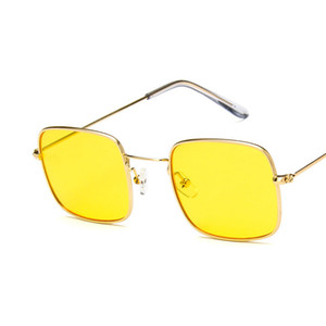 New men and women Europe and the United States trend sunglasses retro small square sunglasses transparent ocean film sunglasses