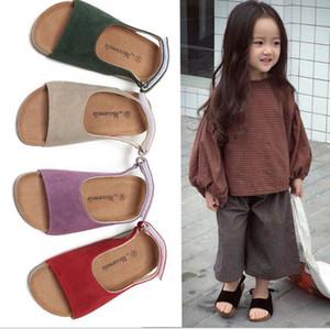 Crianças Cork Chinelos sandálias meninos flip-flops sandálias frescos Fashion Shoes Sandálias Meninas Summer Beach antiderrapante Chinelos Calçado D5681