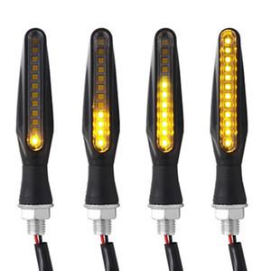 LED motocicleta sinais de volta de luz 12 SMD cauda Flasher Água Corrente Blinker IP68 Bendable motocicleta Flashing Lights