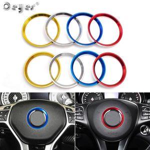Araç Direksiyon Ring Center Dekorasyon Aksesuarları Şekillendirme Vaka İçin Mercedes Benz Gle Cla W203 W204 W205 Çemberi Kapaklar