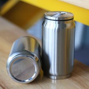 une bouteille d'eau de la boîte de cola de 12 onces la tasse Voyage à vide en acier inoxydable maintenir froid liquide et étanche à chaud avec le couvercle de paille