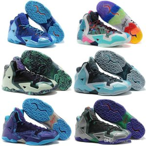 Cheap mens lebron soldier 11 Outdoor shoes for sale Red Black Multi color high tops lebrons soldiers sneakers tennis